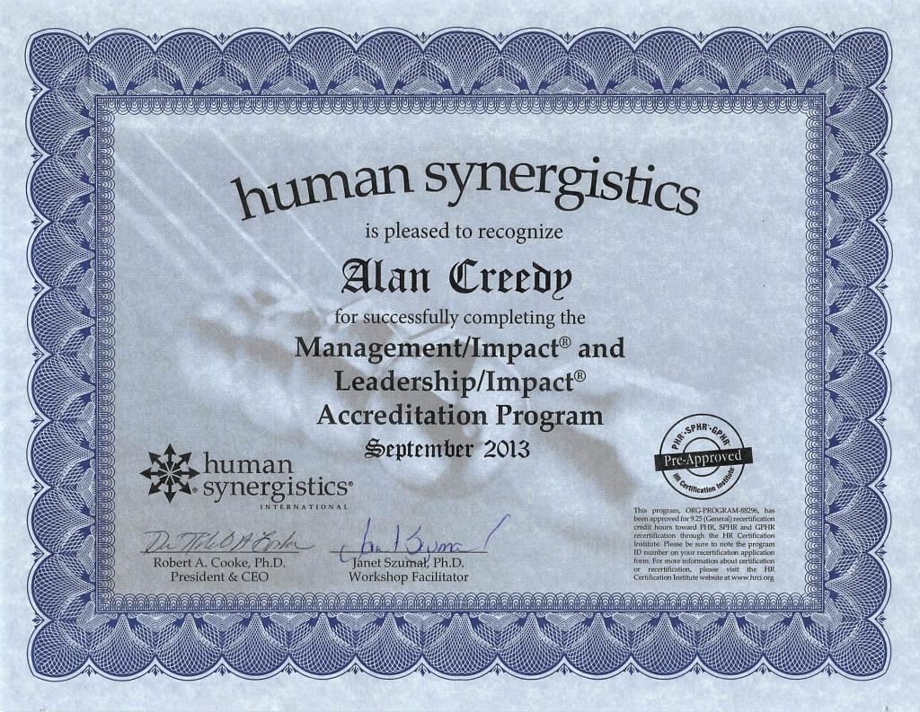 impact certificate