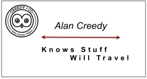 Alan Creedy - Knows Stuff and Will Travel