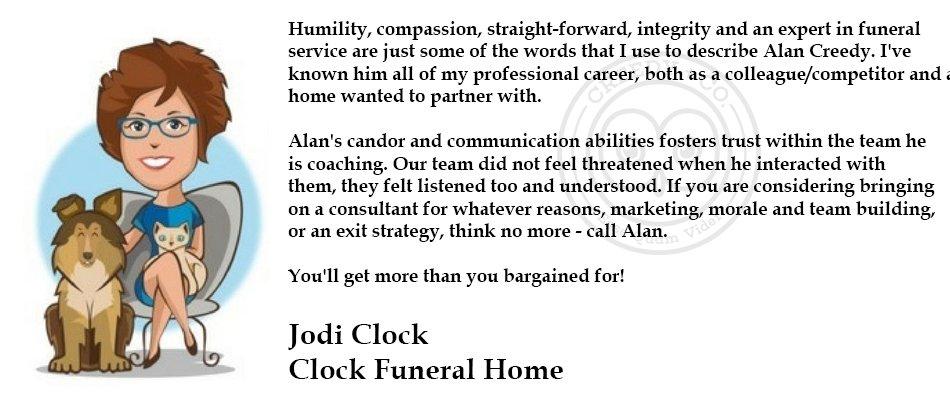Jodi Clock Testimonial